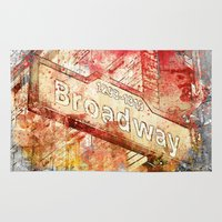 broadway Area & Throw Rugs featuring Broadway  by LebensART