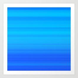 Blue Sea Stripes Art Print