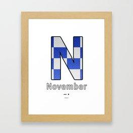 November - Navy Code Framed Art Print