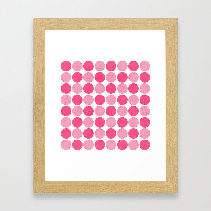the pink dots Framed Art Print