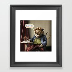 Hungry Lion Framed Art Print