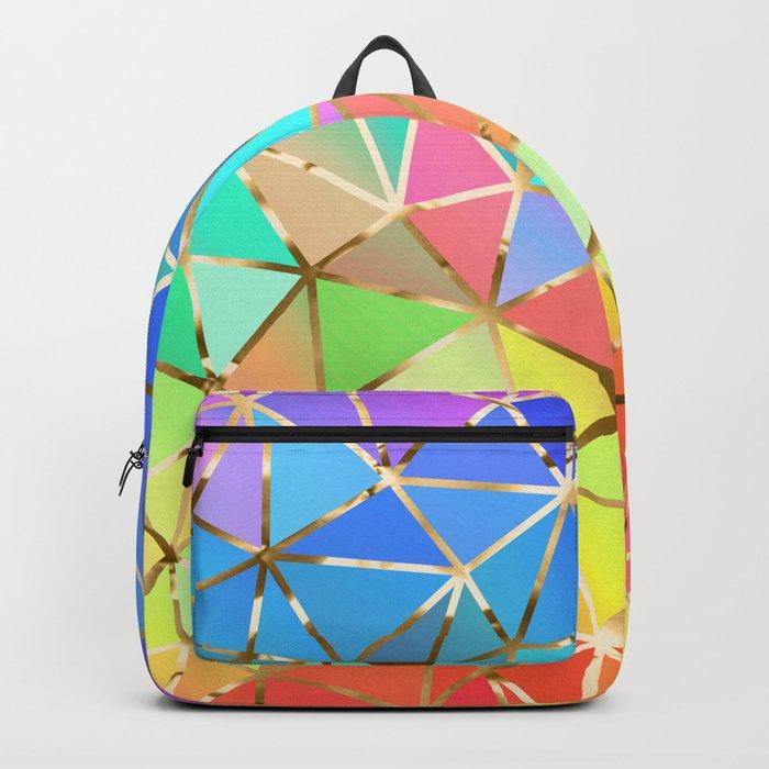 Rainbow geometric #10 Backpack