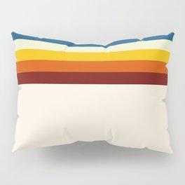 Never-ending Summer Time Retro Stripe Pillow Sham
