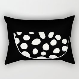 Minimalist Bowl B&W Rectangular Pillow