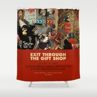 banksy Shower Curtains featuring Exit Through The Gift Shop - Banksy by Smart Store