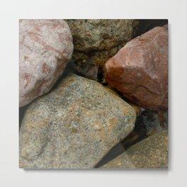 Garden Rock Collection Metal Print