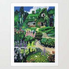 Kiki's Garden Art Print