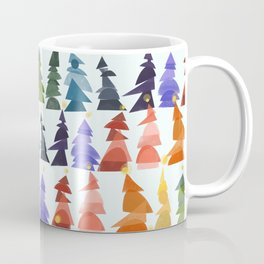 Rainbow Trees Print Coffee Mug