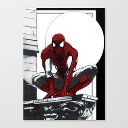 Spiderman Noir (Alt. Version) Canvas Print