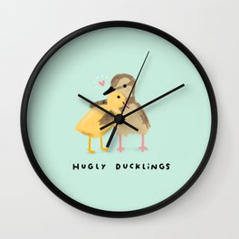 Hugly Ducklings Wall Clock