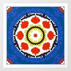 Bold and bright beauty of suzani patterns ver.5 Art Print
