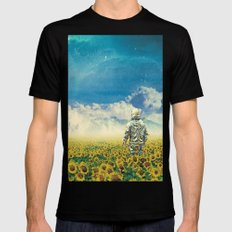 In the field MEDIUM Black Mens Fitted Tee