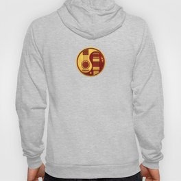 Vintage Red and Yellow Acoustic Electric Guitars Yin Yang Hoody