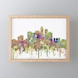 Los Angeles Skyline - Faded Glory Framed Mini Art Print