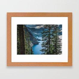Blue Crater Lake Oregon in Summer Framed Art Print