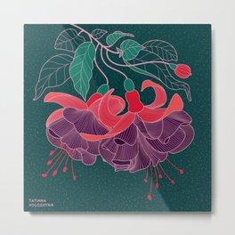Fuchsia Flowers Metal Print