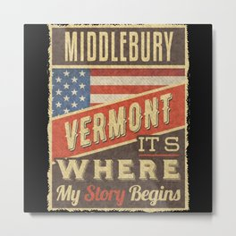 Middlebury Vermont Metal Print