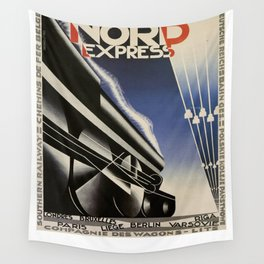 Vintage poster - Nord Express Wall Tapestry