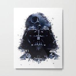 Darth Vader - Death Star - Tie Fighter - Starship Mashup Metal Print