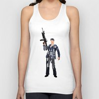 montana Tank Tops featuring Tony Montana by Ayse Deniz