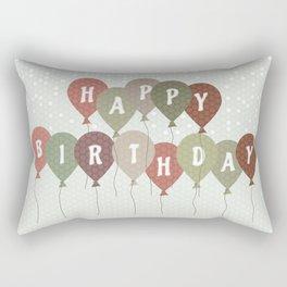 Vintage Birthday card Rectangular Pillow