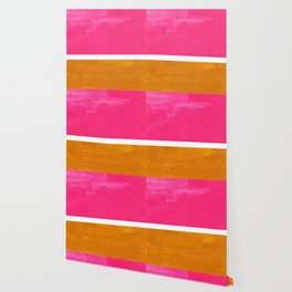 Magenta Yellow Ochre Rothko Minimalist Mid Century Abstract Color Field Squares Wallpaper