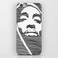 tupac iPhone & iPod Skins featuring Tupac  by Colin Douglas Gray