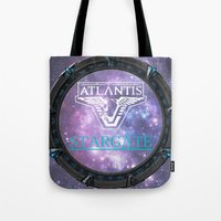 stargate Tote Bags featuring Pegasus gate by Samy