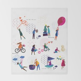 colorHIVE characters Throw Blanket