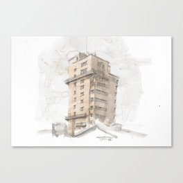 Tagblattturm Stuttgart - water colour Canvas Print