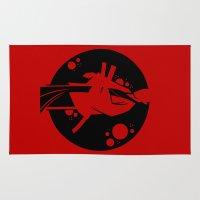 samurai Area & Throw Rugs featuring Samurai by Artistic Dyslexia