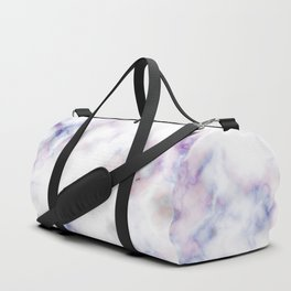 The pattern of blue marble with a red tint Duffle Bag