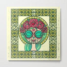 Sugar Skull Girl Metal Print