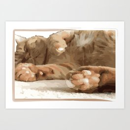 Cat Moments (12) Art Print