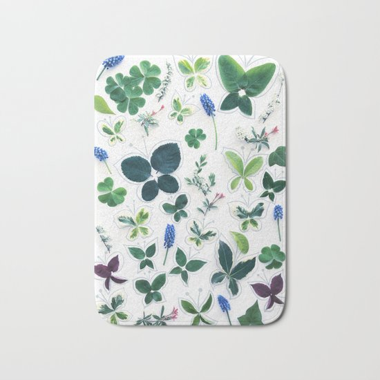 Nature Butterfly Pattern 1 Bath Mat