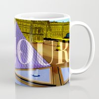 bonjour Mugs featuring Bonjour by Hola Vicky