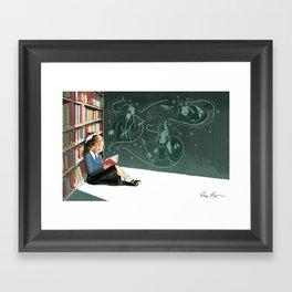 I Dissent: Library Framed Art Print