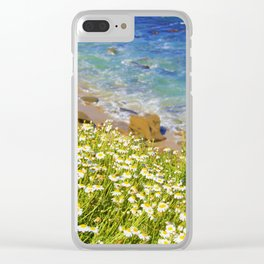 California Seaside in Bloom by Reay of Light Clear iPhone Case
