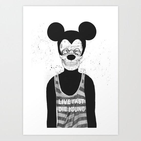 Dead mouse Art Print