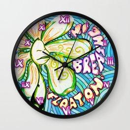 """""""Breathe In, Float On"""" Flowerkid Wall Clock"""