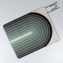 Gradient Arch - Green Tones Picnic Blanket