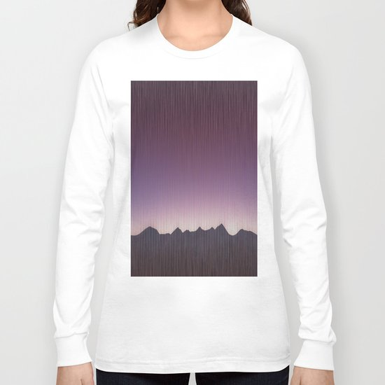 Pink mountains Long Sleeve T-shirt