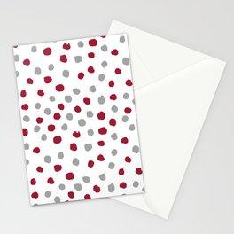 University of Alabama colors dots polka dots minimal pattern college football sports Stationery Cards