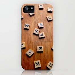 Scrabble letters iPhone Case