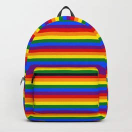 Mini Gay Pride Rainbow Flag Stripes Backpack
