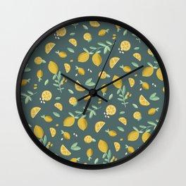 7th Lemon Wall Clock