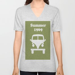 Summer 1969 - Green Unisex V-Neck