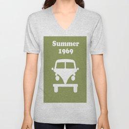 Summer 1969 - Green Unisex V-Neck