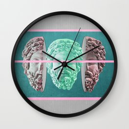 am a green soul in a pinky packaging Wall Clock