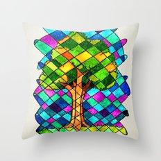 Tree Jumble Throw Pillow